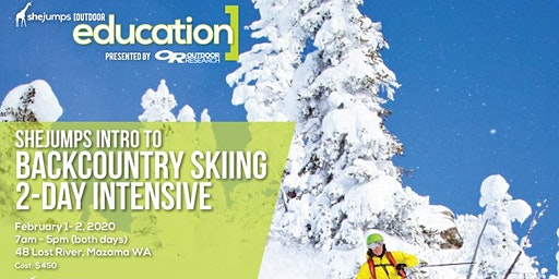 WA SheJumps Backcountry Skiing 2-Day Intensive