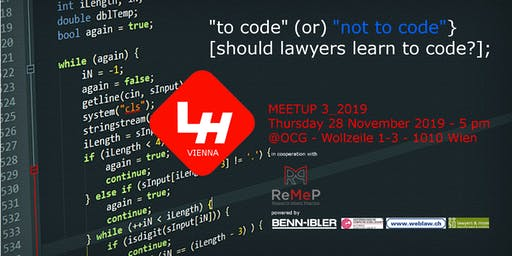VIENNA LEGAL HACKERS Meetup 3_2019: Should lawyers learn to code?