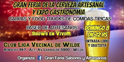 Gran Feria de la Cerveza Artesanal y Expo Gastronomia Wilde