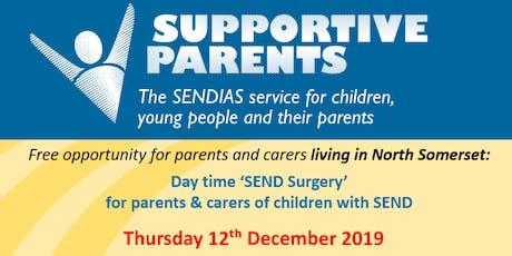 North Somerset SEND Surgery Thursday 12th December 2019 tickets
