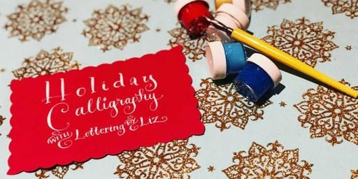 Holiday Calligraphy Workshop: Envelope Art & DIY gift tags