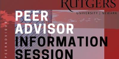 Peer Advisor Information Session