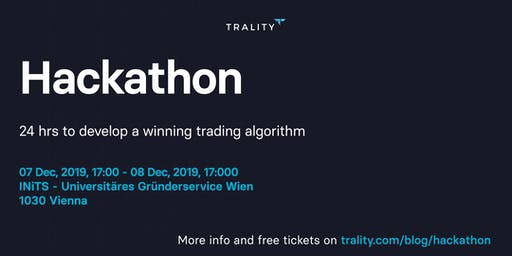 Trality Hackathon 2019: 24 hrs to develop a winning trading algorithm