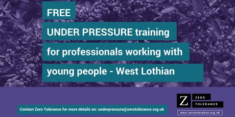 Under Pressure Training for Youth Workers - West Lothian tickets