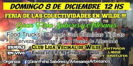 GRAN FERIA DE LAS COLECTIVIDADES EN WILDE entradas