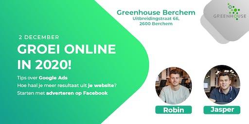 Groei Online in 2020! Greenhouse Berchem