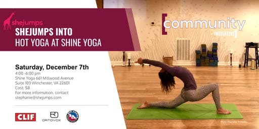 VA SheJumps into Hot Yoga at Shine Yoga
