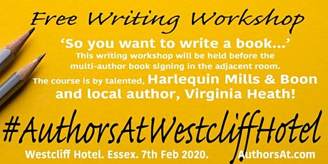 AuthorsAtWestcliffHotel. Free writing workshop. tickets