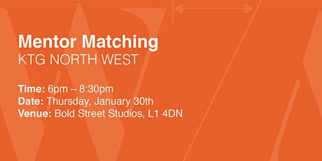 Kerning the Gap North West Mentoring Launch: Mentoring Matching tickets