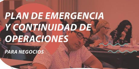 Plan de Manejo de Emergencia y Continuidad de Operaciones para Negocios tickets