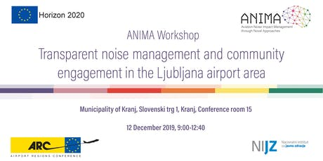Transparent noise management & community engagement in LJU airport area tickets