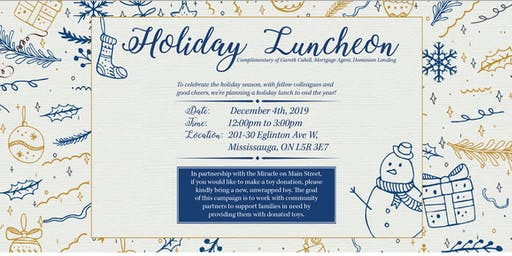 Gareth Cahill's Holiday Luncheon