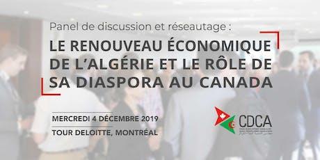 Le renouveau économique de l'Algérie et le rôle de sa dispora au Canada billets