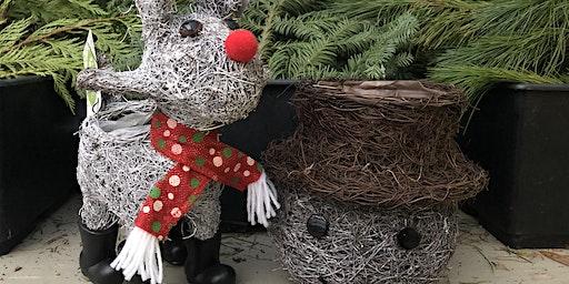 Rudolph or Frosty Indoor Arrangement