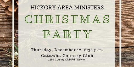 Hickory Area Ministers  Christmas Party