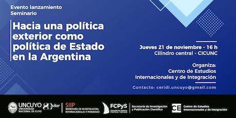 Hacia una política exterior como política de Estado en  la Argentina entradas