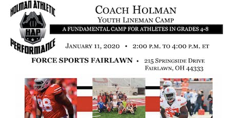 Coach Holman's Youth Lineman Camp tickets