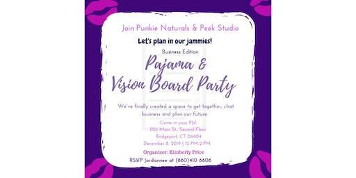 Pajama & Vision Board Party