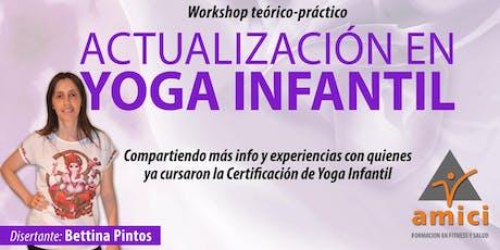Actualización en  Yoga Infantil entradas