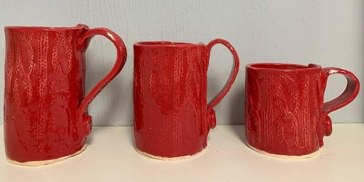 Handbuilt Clay Sweater Mug!
