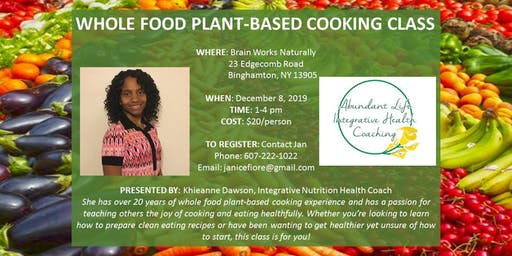 Whole Food Plant-Based Cooking Class