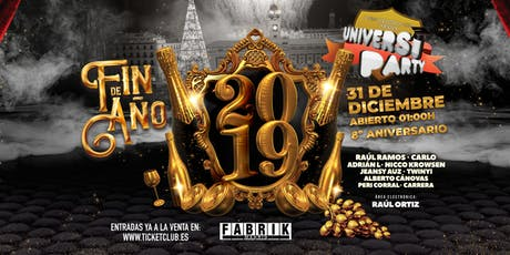 Universiparty Fin de Año en FABRIK entradas