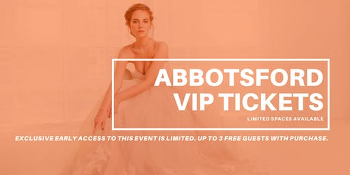 Opportunity Bridal VIP Early Access Abbotsford Pop Up Wedding Dress Sale