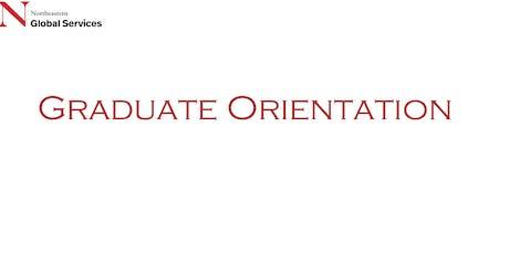 International Graduate Student Orientation January 17 Afternoon 2020 tickets