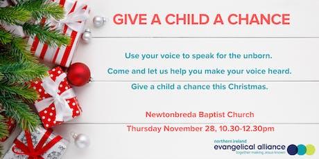 GIVE A CHILD A CHANCE - Newtonbreda tickets