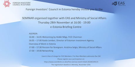 FICE seminar with EAS and Ministry of Social Affairs tickets