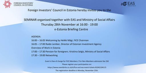 FICE seminar with EAS and Ministry of Social Affairs