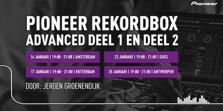 Pioneer Rekordbox 5 Advanced trainingen 2019/2020 tickets