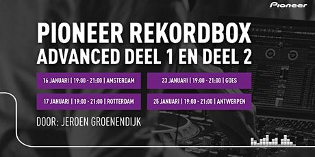 Pioneer Rekordbox 5 Advanced trainingen 2019/2020 tickets