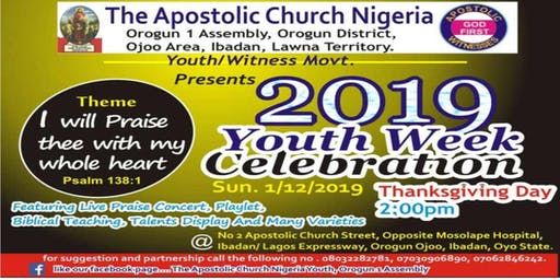 YOUTH WEEK CELEBRATION (MUSICAL CONCERT)