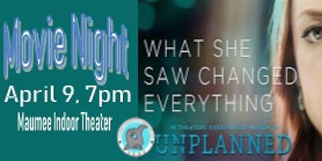 """SEAL Movie Night """"Unplanned"""" tickets"""