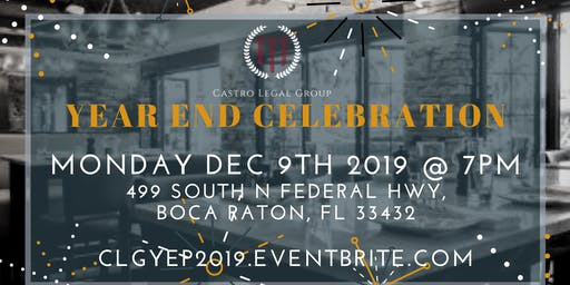 CLG Year End Celebration @ the Locale Boca Raton