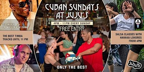Cuban Sundays at Juju's tickets
