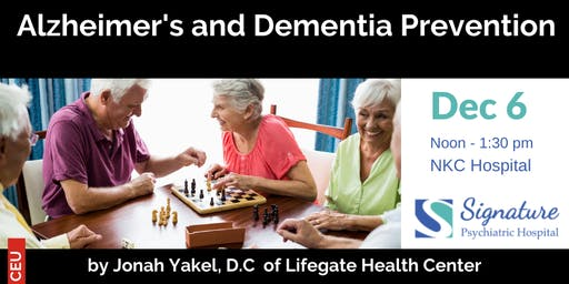 Alzheimer's & Dementia Prevention CEU