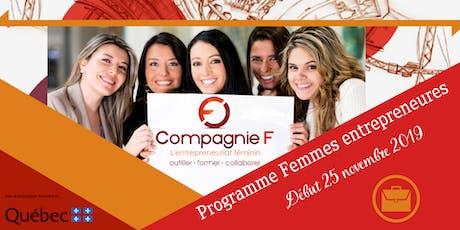 Séances d'informations - Programme Femmes entrepreneures billets