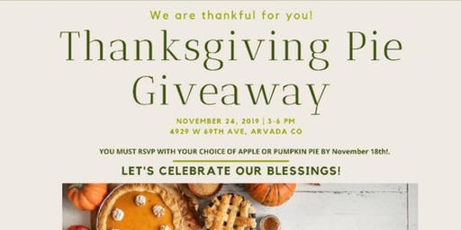 Thanksgiving pie Giveaway