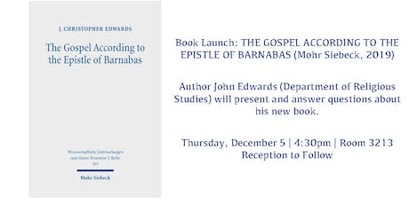 Book Event w/John Edwards / THE GOSPEL ACCORDING TO THE EPISTLE OF BARNABAS tickets