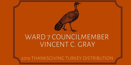 Ward 7 Thanksgiving Turkey Distribution  2019