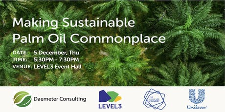 Making Sustainable Palm Oil Commonplace tickets