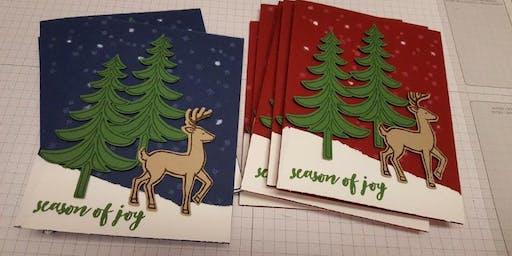 Coffee and Christmas Card Making