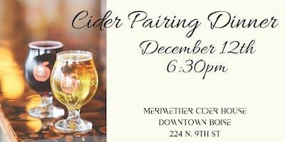Cider Pairing Dinner