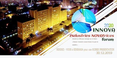 INdustries NOVAtrices Forum 2020. Conférence et soirée de présentation billets