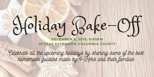 Columbia County 4-H Holiday Bake-Off
