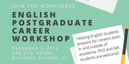 English Postgraduate Career Workshop