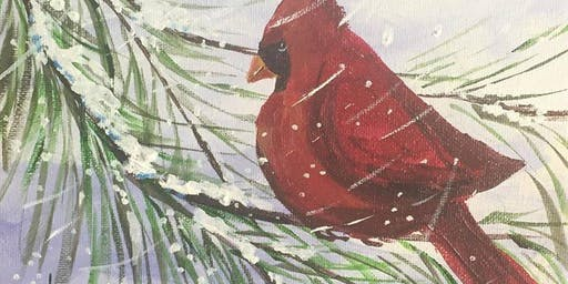 Winter Cardinal Painting Party
