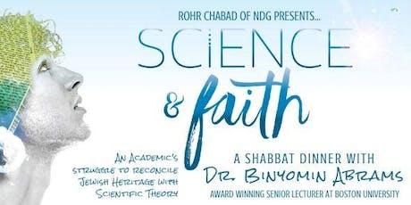 Shabbat Dinner with Dr. Binyomin Abrams: Science & Faith tickets